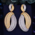 GODKI 70mm Luxury Trendy Conch Cubic Zirconia Naija <b>Wedding</b> Party Earring Fashion <b>Jewelry</b> for Women