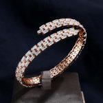 UILZ America street Fashion Adjustable Design Bangle Bracelets Open Hand cuff CZ <b>Jewelry</b> For women <b>accessories</b> UB163