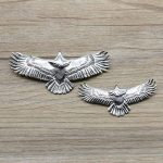 Men's Personality Accessories S925 Sterling <b>Silver</b> Eagle Pendant Handmade Feather <b>Necklace</b>
