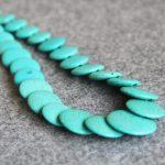 New Necklace 6-14mm Turkey Stone Blue Beads Howlite Beads Necklace Women Girls Gifts Christmas gift 15inch <b>Jewelry</b> <b>Making</b> Design