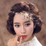 alloy rhinestone pearl <b>handmade</b> hairbands wedding hair accessories flower beaded crystal bridal hair <b>jewelry</b>