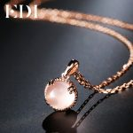 EDI Genuine 7mm Natural Gemstone Rose Quartz Crystal 100% 925 Sterling <b>Silver</b> Pendant Fine <b>Jewelry</b> For Women