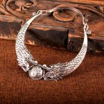 Yunnan Tribe <b>Handmade</b> Miao Silver Two Dragons and Silver Bead Collar Big Pendant Necklace Retro Silver <b>Jewelry</b>