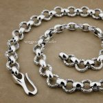 Solid 925 Sterling <b>Silver</b> Huge & Heavy Fashion <b>Necklace</b> 8F001N Length 18 to 36 Inches Available