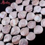 20-22mm Coin Freshwater Pearl Beads Natural Stone Beads For DIY Necklace Bracelets Earring <b>Jewelry</b> <b>Making</b> 14.5″ Free Shipping
