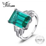 JewelryPalace Luxury 5.9ct Created Emerald Cocktail Ring 100% Real 925 Sterling <b>Silver</b> Rings for Women Fine <b>Jewelry</b> Accessories