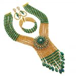 2018 New Arrival Nigerian Wedding Necklace For Women <b>Handmade</b> African Beads <b>Jewelry</b> Set Party Christmas Gif 6C-SDLS-013