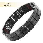 Vivari Magnetic Black Titanium Bracelet Men Bangle 4in1 -ve Ions Germanium Far Infra Red <b>Fashion</b> Bracelets <b>jewelry</b> Charm Wrist