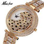 MISSFOX Miss Fox Casual Women Watches <b>Silver</b> Waterproof Quartz Watch Women Gold Ladies Watches Top Brand Luxury Clock Women