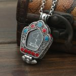 S925 <b>sterling</b> <b>silver</b> lace Buddha Pendant <b>Jewelry</b> <b>Silver</b> Box gawu Tibetan Buddhist pendant male and female fashion