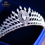 Top Quality Zircon Brides Hairbands Royal Queen Silver <b>Wedding</b> Tiaras Crowns Crystal Bridal Hair Accessories Prom <b>Jewelry</b> Gifts