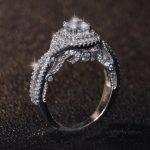 Unique Desgin Vecalon Brand <b>Handmade</b> Luxury <b>Jewelry</b> 925 Sterling Silver Round Cut 5A Cubic Zirconia CZ Women Wedding Band Ring