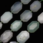 Full strand Green Opal Faceted Beads Octagon Natural Opal Cut Slab Loose Beads Slice Pendants Charms Necklace <b>Supplies</b> <b>Jewelry</b>