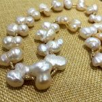 large size Baroque stely Peanut shape natural pearl and thread rose golden metal tube <b>necklace</b> like the sky stars fine <b>jewelry</b>