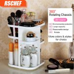 RSCHEF <b>Fashion</b> 360 degree Rotating Makeup Organizer Box Brush Holder <b>Jewelry</b> Organizer Case <b>Jewelry</b> Makeup Cosmetic Storage Box