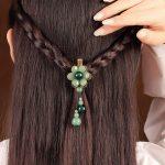 Vintage <b>handmade</b> Fashion <b>Jewelry</b> Accessories Hair Claws natural stone Hair <b>Jewelry</b> metal Hair Clip For Women Girls