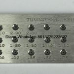 Square Shape Tungsten Carbide Wire Drawplate,Various models,3.10-5.00mm,5.10-7.00mm,hole number 20/30 <b>Jewelry</b> <b>Making</b> Equipment