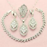 WPAITKYS Selling White Cubic Zirconia 925 Sterling-<b>Silver</b>-Jewelry Sets For Women <b>Bracelet</b> Necklace Earrings Ring Free Box