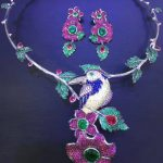925 sterling <b>silver</b> big bird necklace and <b>earring</b> jewelry set multi color fine women jewelry wedding free shipping