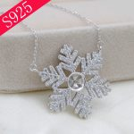 S925 Sterling Silver Pearl Necklace Accessories Snowflake O Chain Necklace Pearl Bead <b>Jewelry</b> <b>Making</b>
