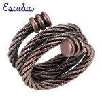 Escalus Ladies <b>Antique</b> Copper Fashion Spring Women Magnetic Ring Resizable Female Magnets <b>Jewelry</b> Charm Finger Wear