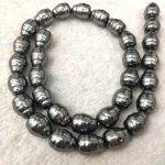 Full strand 16″ Black Pearl <b>Jewelry</b> white Drop Teardrop carved bead 8-20mm white Pearl beads <b>jewelry</b> for <b>Make</b> Earrings loose bea