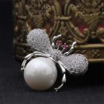 2018 Vintage Simulated Pearl Bee Silver/Gold Brooch <b>Antique</b> Pin Women Full Crystal Coat Scarf Pin Costume <b>jewelry</b> Drop Shipping