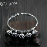 925 Sterling <b>Silver</b> <b>Bracelets</b> For Women Bohemia 5 Elephants Charm <b>Bracelets</b> & Bangles Boho Vintage Thai <b>Silver</b> Jewelry Femme
