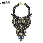 MANILAI Eye-catching Luxury Crystal Necklaces Women <b>Wedding</b> / Party Dress Collar Handmade Choker Necklaces Statement <b>Jewelry</b>