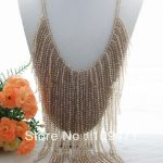 "Charming! 24"" Champagne Crystal <b>Necklace</b>"