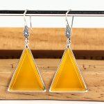 Long Drop Earrings Natrual Agate 925 <b>Sterling</b> <b>Silver</b> Hyperbole Fine <b>Jewelry</b> Bohemia Triangle Earring 22mm*45mm Women Catkins New