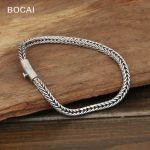 S925 wholesale <b>silver</b> <b>jewelry</b> Mens handmade <b>silver</b> buckle 4m Thailand simple rope bracelet