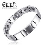 BEIER Gold detail Unique 5mm Width <b>Supply</b> and mixed batch of magnetic health <b>jewelry</b> bracelet tungsten lovers BC-W004