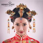 HOMSTORY Retro Chinese Traditional <b>Wedding</b> Hair <b>Jewelry</b> Adorn Chinese Ancient <b>Wedding</b> Hairpins Hair Accessories