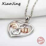 2018 new design 925 sterling silver love heart shape angel pendant chain necklace diy fashion <b>jewelry</b> <b>making</b> for women gifts
