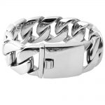 26/31MM 316L Stainless Steel Curb Cuban <b>Bracelet</b> Huge Heavy <b>Silver</b> Tone Chain Wholesale Jewelry Mens Boys Bracele