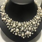 Natura fresh water pearl and crystal necklace real pearl party dinner necklace fashion women <b>jewelry</b> hand <b>make</b> free shippping