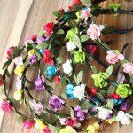 Bohemian Styles Artificial Rose Flower Headband Seaside Beach Holiday Shoot <b>Decoration</b> Prop Headpiece <b>Jewellery</b> Free Shipping