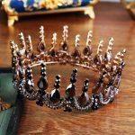Bride Tiara Crown Wedding Black Crystal headband Vintage Diadem Rhinestone Queen King Tiaras and Crowns Hair <b>jewelry</b> accessories