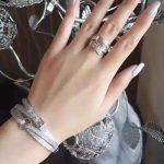 Brand Solid Pure 925 Sterling <b>Silver</b> Jewelry For Women Belt Bangle Vintage Full Stone Belt Jewelry Set <b>Silver</b> Bangle Rings Set