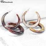 Vintage Acrylic C Earings Hoop Earrings for Women Brincos Earring <b>Jewelry</b> Oorbellen Boucles D'oreilles Pour Les Femmes Earing