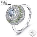 JewelryPalace Genuine 1.4ct Green Amethyst Peridot Halo Ring 925 Sterling <b>Silver</b> Vintage Charm Fine <b>Jewelry</b> Fashion for women