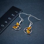 Hutang Natural Golden Citrine Jewelry Sets Solid 925 Sterling <b>Silver</b> <b>Earrings</b> Pendant Gemstone Fine Quality Jewelry Women's