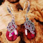 Kadan Di Intime <b>Silver</b> 925 <b>silver</b> <b>earrings</b> red long <b>earrings</b> <b>earrings</b> Korea exaggerated female jewelry wealthy shipping
