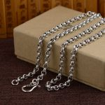 925 Silver Link Chain Necklace for Women Accessorice 5mm 6mm 50cm to 80cm Chain S925 Thai Solid Silver <b>Jewelry</b> <b>Making</b> Necklaces