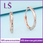 LS Hot Sale Rose G.old Plated Droplets Stud Earrings For Women Wedding Party Fine <b>Jewelry</b> <b>Making</b> Women Christmas Gifts W