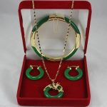 word Fine Jewelry gem Quartz stone Gem Real Fashion jewelry green stone necklace pendants, earrings , <b>bracelets</b> Set