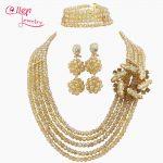 2017 Latest African Beads <b>Jewelry</b> Set Nigerian Wedding bridal <b>Jewelry</b> Sets gray Crystal Beads <b>necklace</b> Sets for women W9538