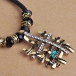 Korea Fashion Creative Fence Big Necklace Big Pendant Leather Chian <b>Accessories</b> <b>Jewelry</b> Gift for Christmas Bijoux Women feminino