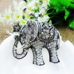 Hot Sales <b>Antique</b> Silver Plated Necklace Elephants Vintage Pendants&Necklaces Zinc Alloy Pearl Chain <b>Jewelry</b> Accessory